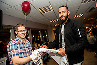 Tuesday  15 December 2015<br /> Pictured: Kyle Bartley<br /> Re: Kids SCFC Christmas Party at the Liberty Stadium, Swansea
