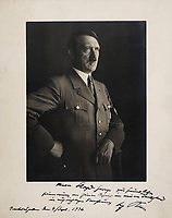 2017 11 02 Adolf Hitler autograph to be auctioned off, England, UK