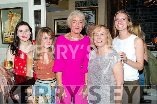 Aoife Brosnan, Grace Cato, Anna Bunyan, Roisin Hourigan and Danica Ilic, pictured at Shaws Department Store, Tralee, 20th anniversary celebrations, at the Brogue Inn, Tralee on Saturday night last.