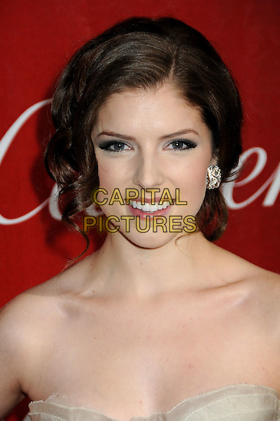 ANNA KENDRICK .Palm Springs International Film Festival Awards Gala 2010 held at the Palm Springs Convention Center, Palm Springs, California, USA, .5th January 2010..portrait headshot strapless beige cream smiling hair up earring.CAP/ADM/BP.©Byron Purvis/AdMedia/Capital Pictures.