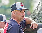 19 March 2015: Atlanta Braves Manager Fredi Gonzalez watches batting practice prior to a Spring Training game against the Miami Marlins at Champion Stadium in the ESPN Wide World of Sports Complex in Kissimmee, Florida. The Braves defeated the Marlins 6-3 in Grapefruit League play. Mandatory Credit: Ed Wolfstein Photo *** RAW (NEF) Image File Available ***