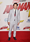 HOLLYWOOD, CA - JUNE 25: Paul Rudd arrives at the Premiere Of Disney And Marvel's 'Ant-Man And The Wasp' at the El Capitan Theatre on June 25, 2018 in Hollywood, California.