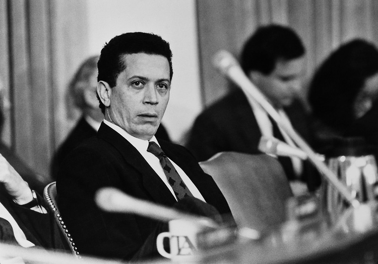 Rep. Howard Ford, D-Tenn., on Feb. 12, 1989. (Photo by Andrea Mohin/CQ Roll Call via Getty Images)