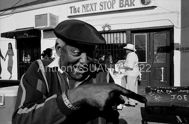 New Orleans, Louisiana.USA.February 27, 2006..Lundi Gras - Monday Gras is celebrated in the 7th ward at Nick's Next Stop lounge with a free open grill for everyone who stops by.