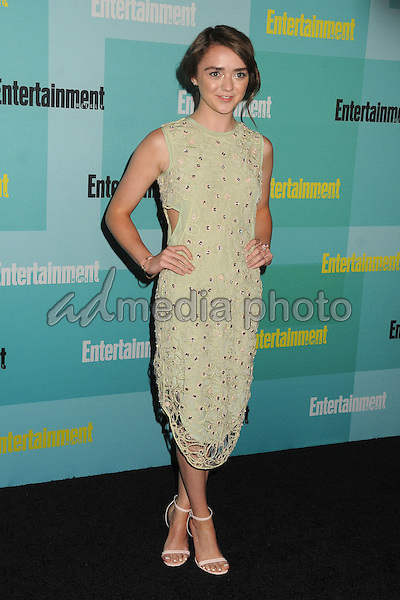 11 July 2015 - San Diego, California - Maisie Williams. Entertainment Weekly 2015 Comic-Con Celebration held at Float at the Hard Rock Hotel. Photo Credit: Byron Purvis/AdMedia