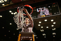 25 February 2007: Kelly Clark during Stanford's 56-53 win over USC at Maples Pavilion in Stanford, CA.