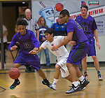 A photograph from the Spanish Springs Cougars at Reed Raiders boys basketball game played on Friday night, February 10, 2017 at Reed High School in Sparks, Nevada.