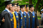 May 19, 2019; Members of the Men's Soccer team take a group photo following the 2019 Commencement. (Photo by Matt Cashore/University of Notre Dame)