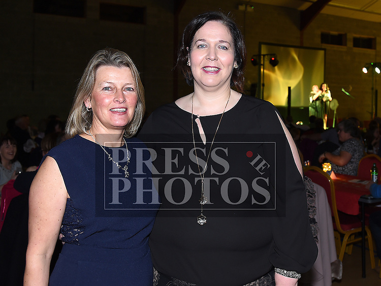 Organizers Aoife Hanratty and Martha Reilly at the Trio Royale show in St. Kevins GAA club Philipstown. Photo:Colin Bell/pressphotos.ie