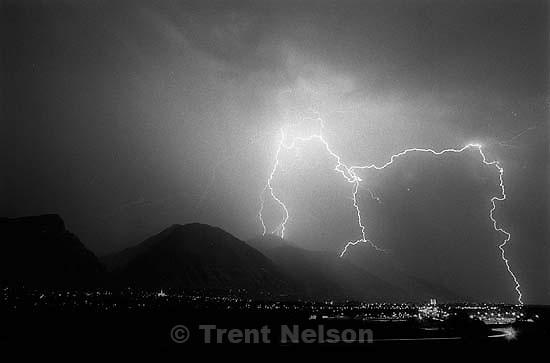 Lightning over Provo.<br />