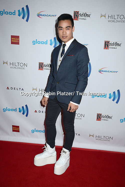 Andrew Jefferis  attends the 25th Annual GLAAD Media Awards at the Waldorf Astoria Hotel in New York City, NY on May 3, 2014.
