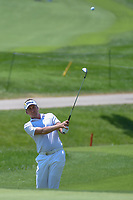 Ian Poulter (GBR) chips on to 8 during 3rd round of the 100th PGA Championship at Bellerive Country Club, St. Louis, Missouri. 8/11/2018.<br /> Picture: Golffile | Ken Murray<br /> <br /> All photo usage must carry mandatory copyright credit (&copy; Golffile | Ken Murray)