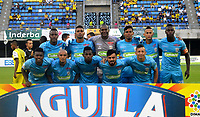 BARRANCABERMEJA - COLOMBIA, 23-03-2016:  Jugadores del Jaguares posan para una foto previo al partido entre Alianza Petrolera y Jaguares de Córdoba FC por la fecha 9 de la Liga Águila I 2018 disputado en el estadio Daniel Villa Zapata de la ciudad de Barrancabermeja. / Players of Santa Fe pose to a photo prior the match between Alianza Petrolera and Jaguares de Cordoba FC for the date 9 of the Aguila League I 2018 played at Daniel Villa Zapata stadium in Barrancabermeja city. Photo: VizzorImage / Jose Martinez / Cont