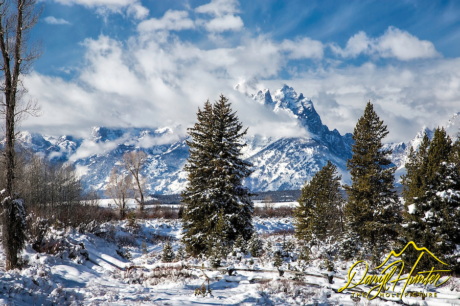 Grand Tetons, Winter, Grand Teton National Park<br />