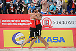 31.05.2015, Moskau, Vodny Stadion<br /> Moskau Grand Slam, Main Draw / Finale<br /> <br /> Jubel Pablo Herrera (#1 ESP), Adrian Gavira (#2 ESP) nach Sieg<br /> <br />   Foto &copy; nordphoto / Kurth