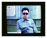 Kim Jong Il on the TV Central television of Pyongyang