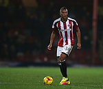 Reece Brown of Sheffield Utd  during the Checkatrade Trophy match at Blundell Park Stadium, Grimsby. Picture date: November 9th, 2016. Pic Simon Bellis/Sportimage