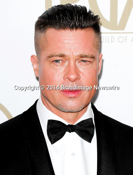 Pictured: Brad Pitt<br /> Mandatory Credit &copy; Adhemar Sburlati/Broadimage<br /> The 25th Annual Producers Guild of America Awards<br /> <br /> 1/19/14, Los Angeles, California, United States of America<br /> <br /> Broadimage Newswire<br /> Los Angeles 1+  (310) 301-1027<br /> New York      1+  (646) 827-9134<br /> sales@broadimage.com<br /> http://www.broadimage.com