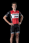 The London Rouleur Classic event provided the venue for today's unveiling of the new Trek-Segafredo men's and women's kits for the upcoming 2019 racing season. Koen de Kort (NED) models the men's kit. 2nd November 2018.<br /> Picture: Trek Factory Racing | Cyclefile<br /> <br /> <br /> All photos usage must carry mandatory copyright credit (© Cyclefile | Trek Factory Racing)