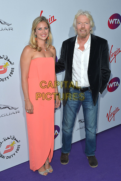 Holly Branson, Sir Richard Branson<br /> attending the WTA Pre-Wimbledon Party at  The Roof Gardens, Kensington, London England 25th June 2015.<br /> CAP/PL<br /> &copy;Phil Loftus/Capital Pictures