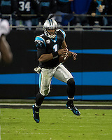 The Carolina Panthers play the New England Patriots at Bank of America Stadium in Charlotte North Carolina on Monday Night Football.  The Panthers defeated the Patriots 24-20.  Carolina Panthers quarterback Cam Newton (1)