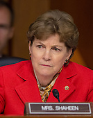 United States Senator Jeanne Shaheen (Democrat of New Hampshire) listens as U.S. Secretary of Defense Chuck Hagel and Chairman, Joint Chiefs of Staff General Martin E. Dempsey, U.S. Army, deliver testimony before the U.S. Senate Committee on Armed Services on the U.S. policy towards Iraq and Syria and the threat posed by the Islamic State of Iraq and the Levant (ISIL) in Washington, D.C. on Tuesday, September 16, 2014.<br /> Credit: Ron Sachs / CNP