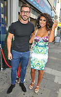 Natasha Sandhu and Alex Miller at the &quot;The Dreamboys 2018 UK Tour&quot; press night, For Your Eyes Only, City Road, London, England, UK, on Tuesday 10 July 2018.<br /> CAP/CAN<br /> &copy;CAN/Capital Pictures