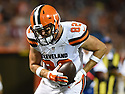 CLEVELAND, OH - AUGUST 18, 2016: Tight end Gary Barnidge #82 of the Cleveland Browns catches a pass to score a touchdown in the second quarter of a preseason game on August 18, 2016 against the Atlanta Falcons at FirstEnergy Stadium in Cleveland, Ohio. Atlanta won 24-13. (Photo by: 2016 Nick Cammett/Diamond Images) *** Local Caption *** Gary Barnidge