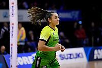 Pulse' Tiana Metuarau, ANZ Premiership - Pulse v Magic at TSB Bank Arena, Wellington, New Zealand on Sunday 21 April 2019. <br /> Photo by Masanori Udagawa. <br /> www.photowellington.photoshelter.com