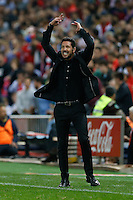 Atletico Madrid's coach Diego Pablo Simeone
