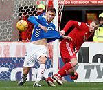 03.03.2019 Aberdeen v Rangers: Borna Barisic and Lewis Ferguson