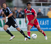 Santa Clara, California - Saturday July 28, 2012: Chicago Fire's Pavel Pardo in action during a game against San Jose Earthquakes at Buck Shaw Stadium, Stanford, Ca    San Jose Earthquakes and Chicago Fire tied 0 - 0