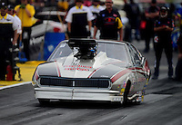 Sept. 30, 2012; Madison, IL, USA: NHRA pro mod driver Danny Rowe during the Midwest Nationals at Gateway Motorsports Park. Mandatory Credit: Mark J. Rebilas-