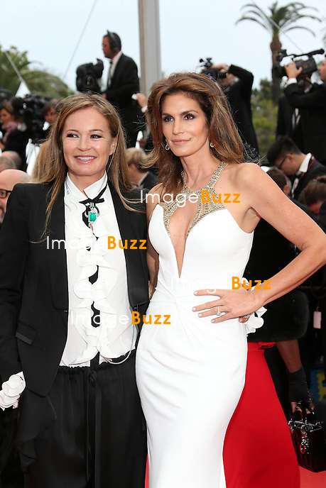 Eva Cavalli and Cindy Crawford attend the Opening Ceremony and 'The Great Gatsby' Premiere during the 66th Annual Cannes Film Festival at the Theatre Lumiere on May 15, 2013 in Cannes, France.