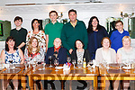 The O' Connor (Noble) family from Abbeyfeale reunited last Monday<br /> night in Leens Hotel with family from the USA.<br /> Seated L-R Matita Daly, Joan Costello, Margaret O' Connell, Joan<br /> Garvey, Eileen Reidy, Madeline O' Connor.<br /> Back: Kevin Costello, Mary Daly, Connor, Kevin, Ann &amp; Riley Westerman.<br /> Photo by Paul Ward