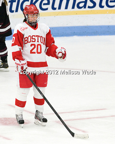 Isabel Menard (BU - 20) - The Boston University Terriers defeated the visiting Union College Dutchwomen 6-2 on Saturday, December 13, 2012, at Walter Brown Arena in Boston, Massachusetts.