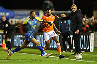 Blackpool's Curtis Tilt competing with Solihull Moors'  Kwame Thomas<br /> <br /> Photographer Andrew Kearns/CameraSport<br /> <br /> The Emirates FA Cup Second Round - Solihull Moors v Blackpool - Friday 30th November 2018 - Damson Park - Solihull<br />  <br /> World Copyright © 2018 CameraSport. All rights reserved. 43 Linden Ave. Countesthorpe. Leicester. England. LE8 5PG - Tel: +44 (0) 116 277 4147 - admin@camerasport.com - www.camerasport.com