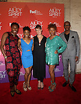 Alvin ailey Dancers Jeroboam Bozeman,Jacquelin Harris,Elisa Clark,Samantha Figgins,Collin Heyward, at the Alvin Ailey American Dance Theater-Ailey Spirit Gala 2015 Held at The David H. Koch Theater