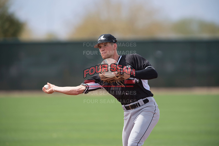 Chicago White Sox second baseman Zach Remillard (7) during a Minor League Spring Training game against the Chicago White Sox at Camelback Ranch on March 16, 2018 in Glendale, Arizona. (Zachary Lucy/Four Seam Images)