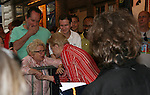 "Dr. Ruth and Blithe Spirit's Angela Lansbury at Broadway Barks 11 - a ""Pawpular"" star-studded dog and cat adopt-a-thon on July 11, 2009 in Shubert Alley, New York City, NY. (Photo by Sue Coflin/Max Photos)"