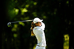 STILLWATER, OK - MAY 21: Julienne Soo of Oklahoma tees off from the first tee box during the Division I Women's Golf Individual Championship held at the Karsten Creek Golf Club on May 21, 2018 in Stillwater, Oklahoma. (Photo by Shane Bevel/NCAA Photos via Getty Images)