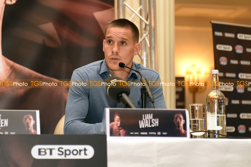 Liam Walsh during a Press Conference at the Savoy Hotel on 7th March 2017