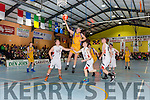 Saulis Marcinkevicius Killorglin rises over the St Marys defence to score during the Div 1 Mens final on Friday night