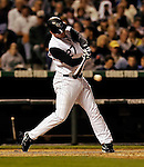 8 September 2006: Garrett Atkins, third baseman for the Colorado Rockies, gets his 100th RBI of the season hitting a single against the Washington Nationals. The Rockies defeated the Nationals 11-8 at Coors Field in Denver, Colorado...Mandatory Photo Credit: Ed Wolfstein.