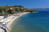 Greece, Thessaly, peninsula Pelion (also named Pilion), Afyssos (Afissos): beach at Pagasetic Gulf | Griechenland, Thessalien, Halbinsel Pelion (auch Pilion), Afyssos (Afissos): Strand am Pagasaeischen Golf