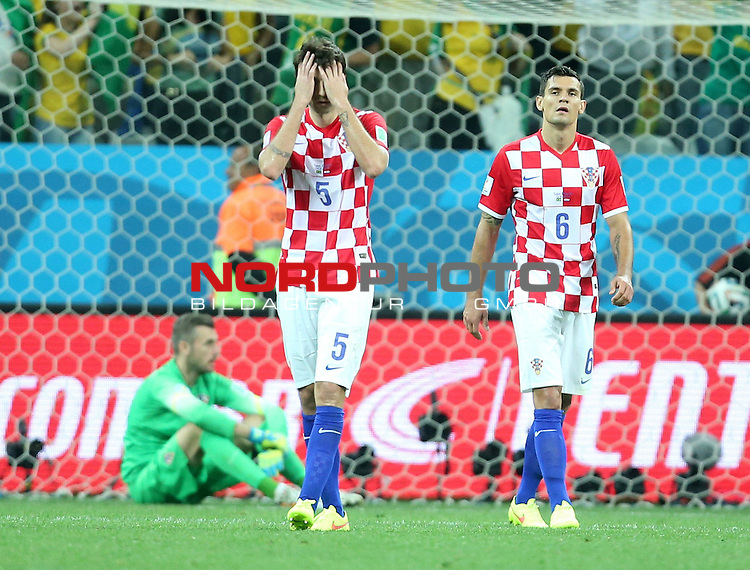 2014 Fifa World Cup opening game from group A against Brazil and Croatia.<br /> Vedran Corluka, Dejan Lovren<br /> <br /> Foto &copy;  nph / PIXSELL / Sajin Strukic