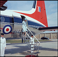 BNPS.co.uk (01202 558833)<br /> Pic: CrownCopyright/AirHistoricalBranch<br /> <br /> The Queen leaving a HS Andover whilst visiting RAF Thorney Island in 1964.<br /> <br /> A new book gives an intimate look behind the scenes of the Royal Flight and also the flying Royals.<br /> <br /> Starting in 1917 the book charts in pictures the 100 year evolution of first the King's Flight and then later the Queen's Flight as well as the Royal families passion for aviation.<br /> <br /> Author Keith Wilson has had unprecedented access to the Queen's Flight Archives to provide a fascinating insight into both Royal and aeronautical history.