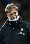 Jurgen Klopp manager of Liverpool during the Premier League match at Anfield Stadium, Liverpool. Picture date: December 11th, 2016.Photo credit should read: Lynne Cameron/Sportimage