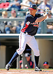 5 March 2007: Atlanta Braves second baseman Pete Orr in action against the Washington Nationals at Disney's Wide World of Sports in Orlando, Florida. The Braves are celebrating 10 years of Spring Training at the Disney facility.<br /> <br /> Mandatory Photo Credit: Ed Wolfstein Photo