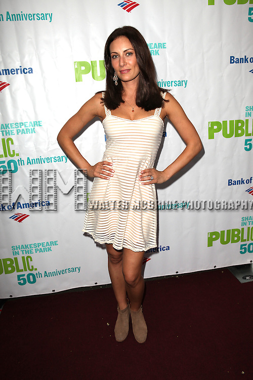 attending the Opening Night Performance of The Public Theater's 'InTo The Woods' at the Delacorte Theater in New York City on 8/9/2012. Actress Laura Benanti attending the Opening Night Performance of The Public Theater's 'InTo The Woods' at the Delacorte Theater in New York City on 8/9/2012. © Walter McBride/WM Photography